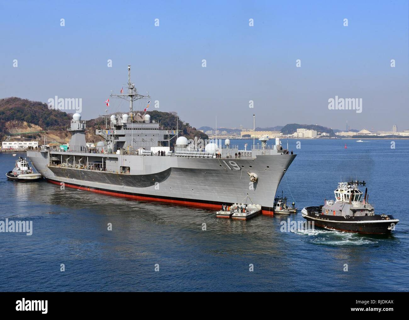 YOKOSUKA, Japan (Jan  21, 2018) The U S  7th Fleet flagship