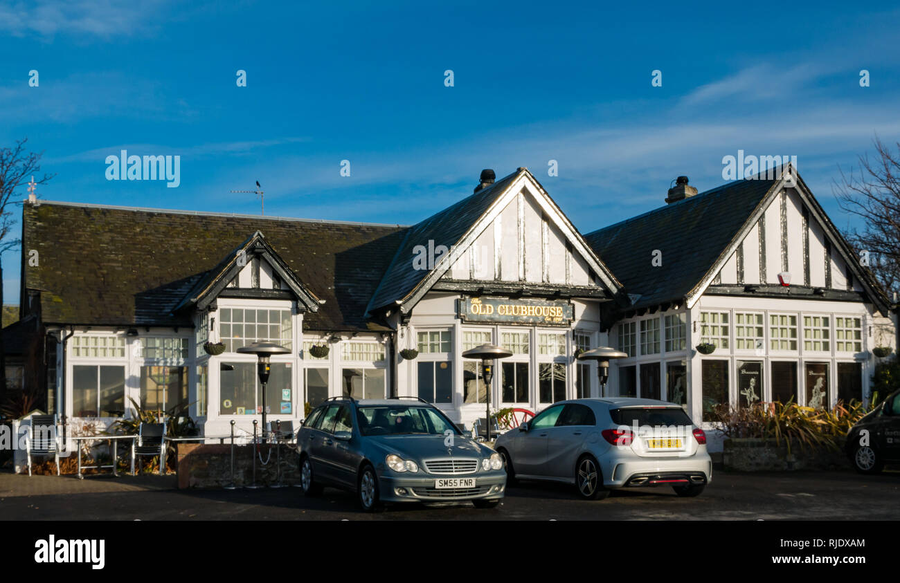 Front of The Old Clubhouse, Gullane, East Lothian, Scotland, UK - Stock Image