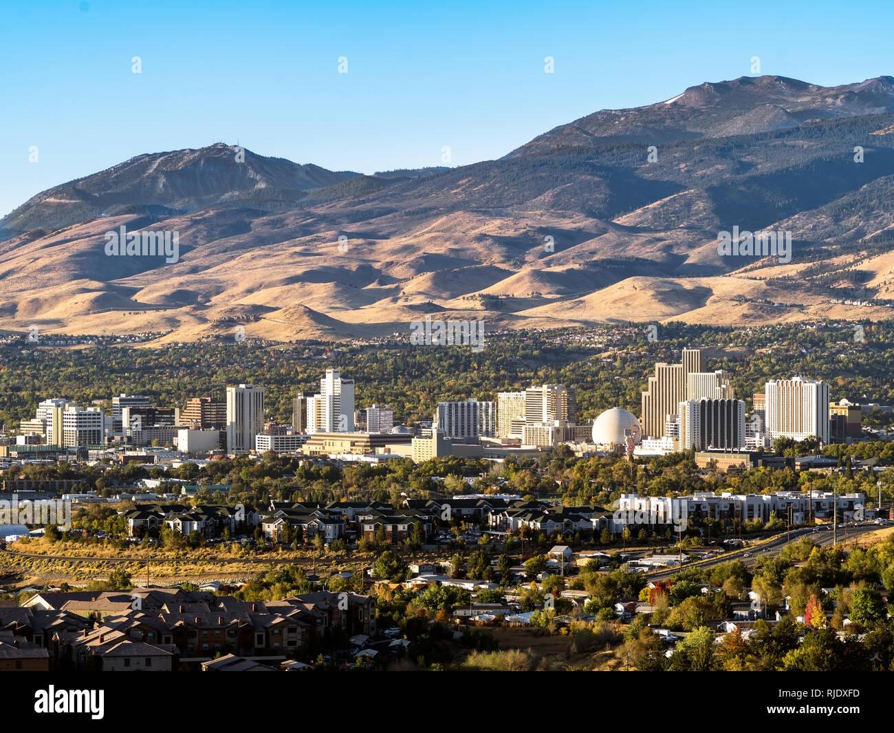 City Of Reno cityscape. Stock Photo