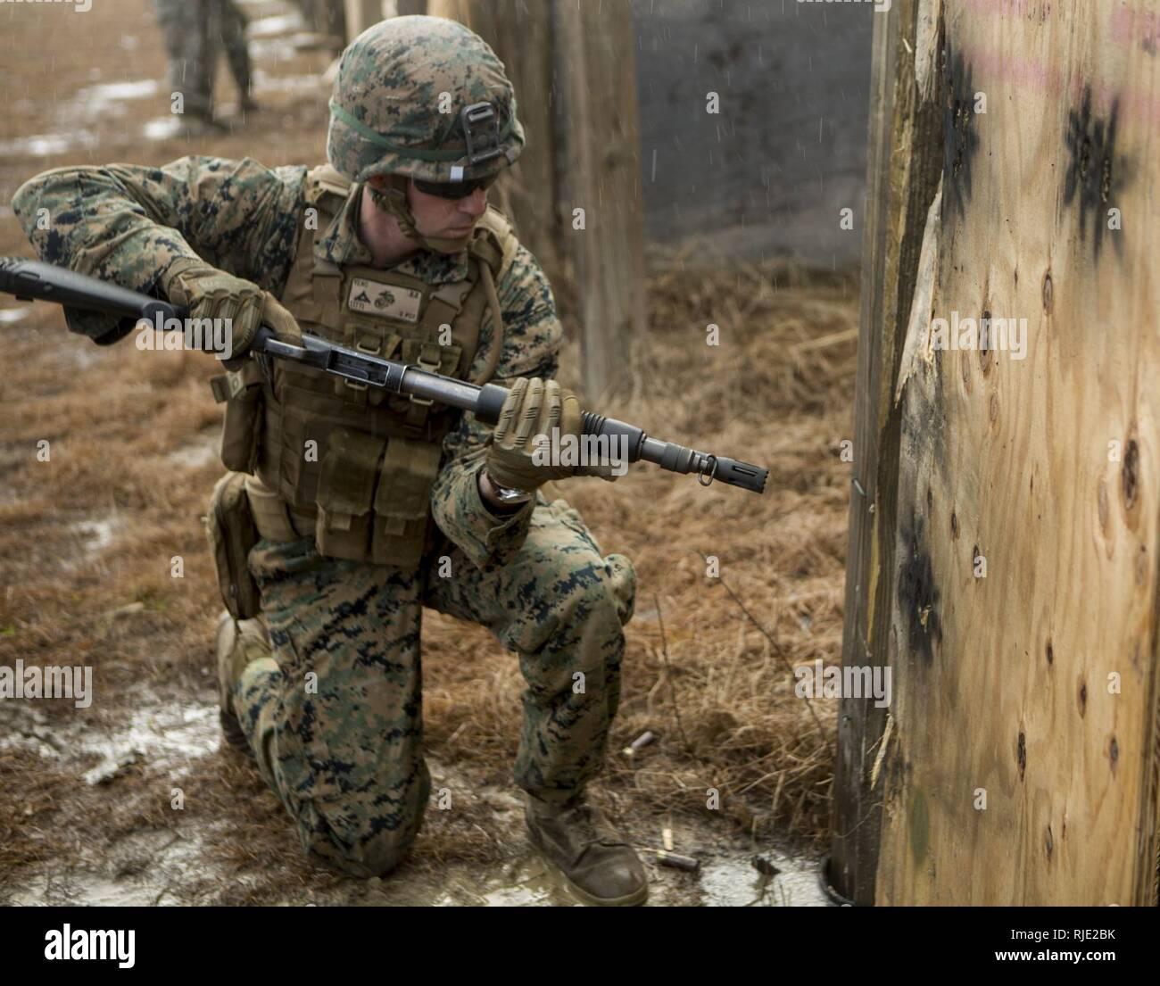 U S  Marines with 3rd Battalion, 8th Marine Regiment, (3/8) 2d