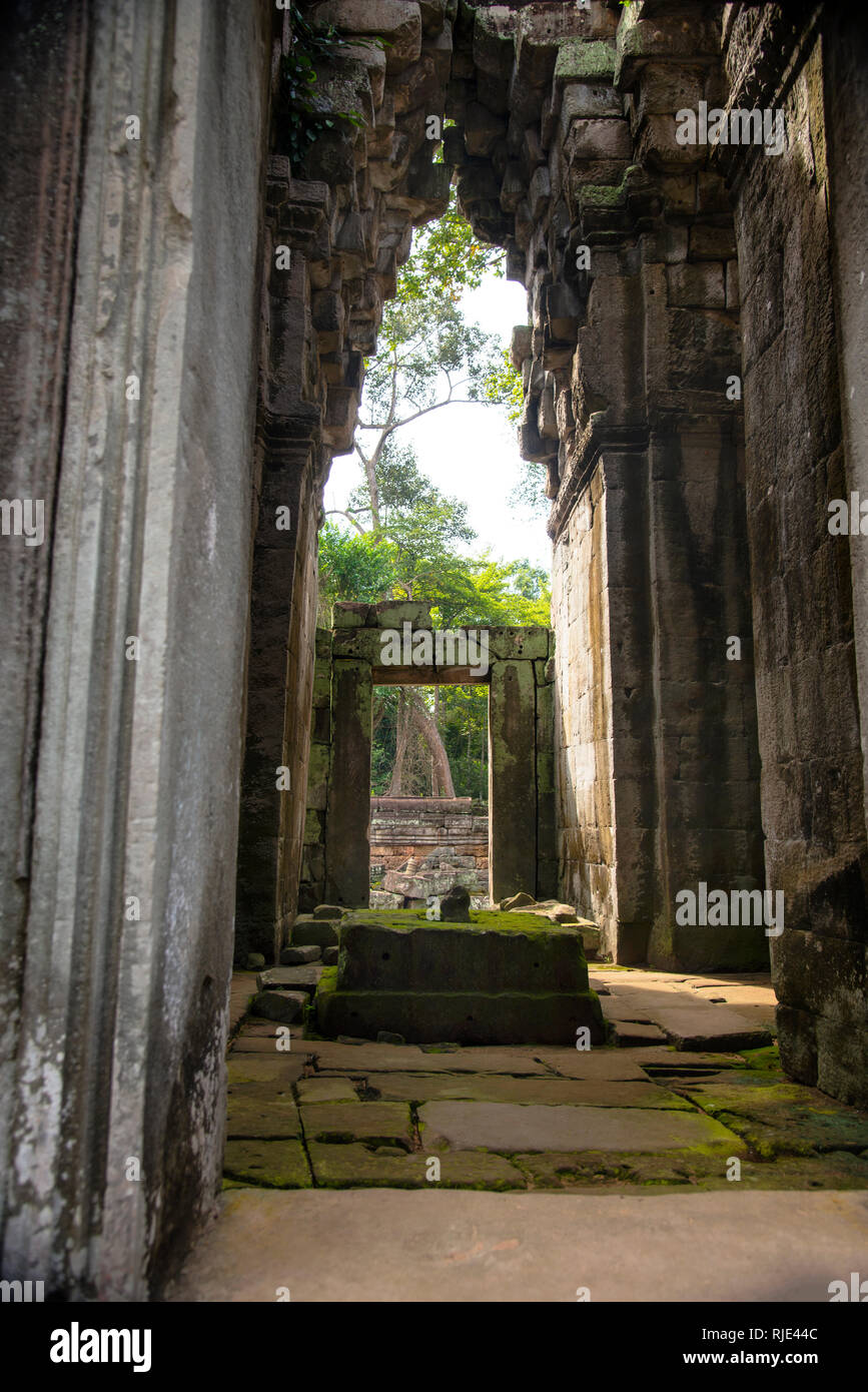Angkor Wat Corbel Arch - Stock Image