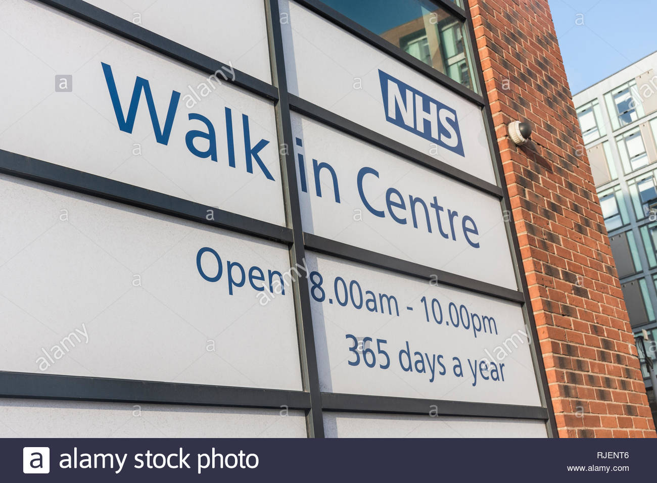 NHS Walk in Centre in Sheffield, South Yorkshire, England, UK - Stock Image