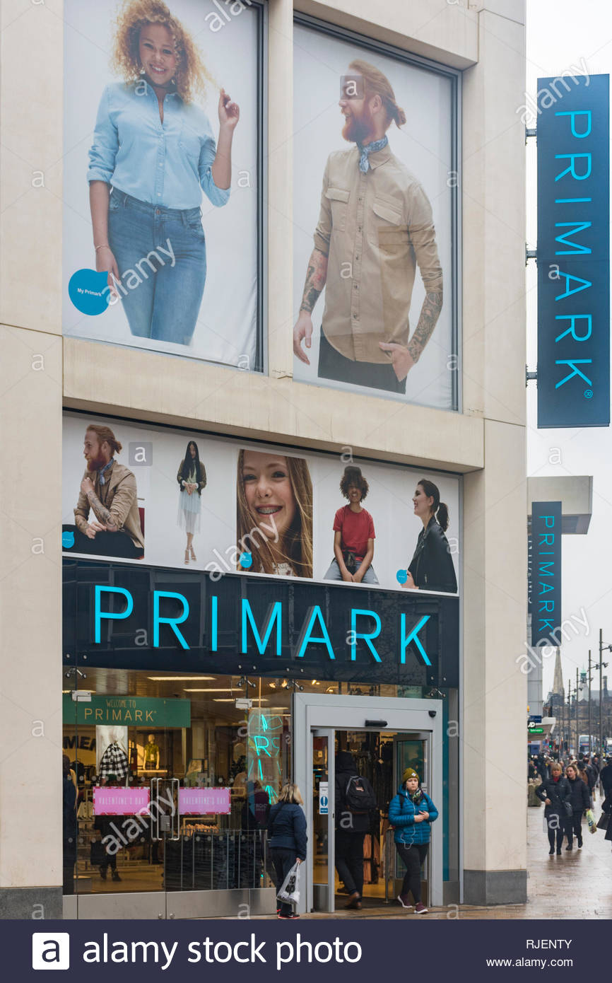 A Primark Store in The Moor shopping precinct in Sheffield, South Yorkshire, England, UK - Stock Image