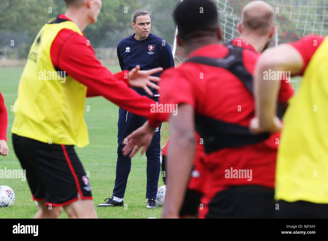 Cheltenha Town FC's new first team manager Michael Duff takes training for the first time - 11.9.2018  Picture by Antony Thompson - Thousand Word Medi - Stock Image