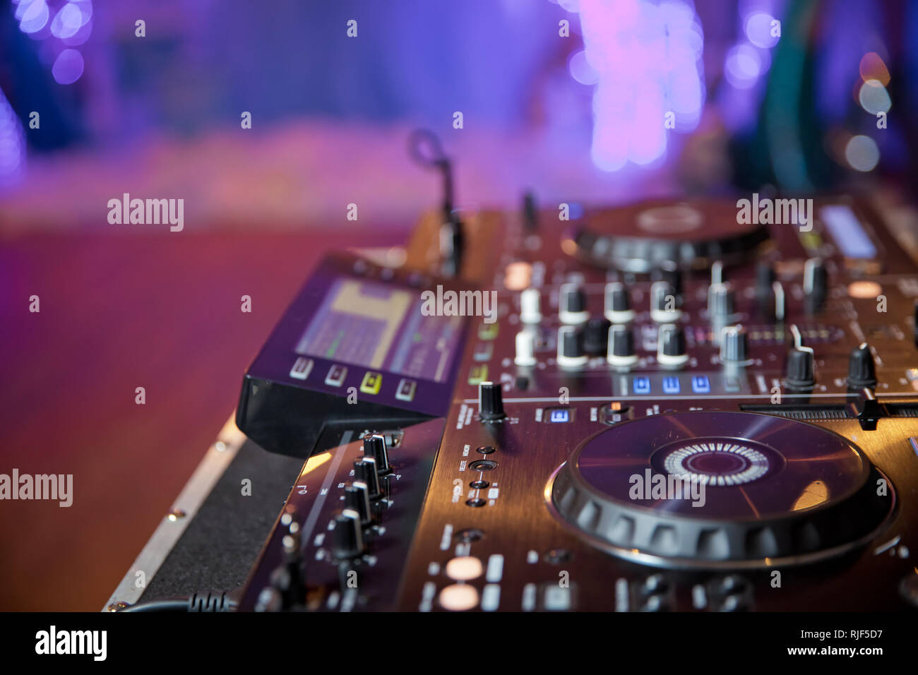Dj Mixer Night Party In Stock Photos & Dj Mixer Night Party In Stock