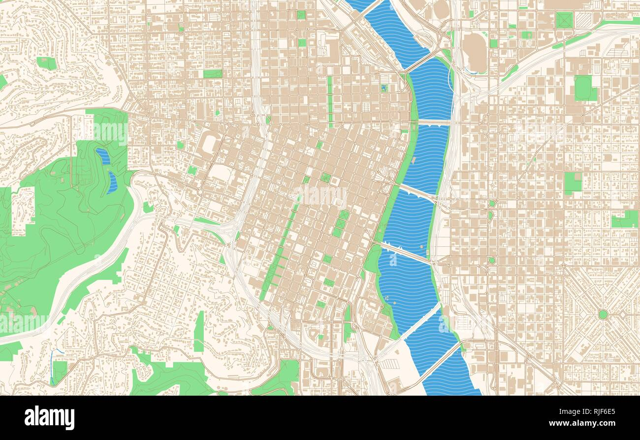 graphic about Printable Map of Oregon called Portland Oregon printable map excerpt. This vector streetmap