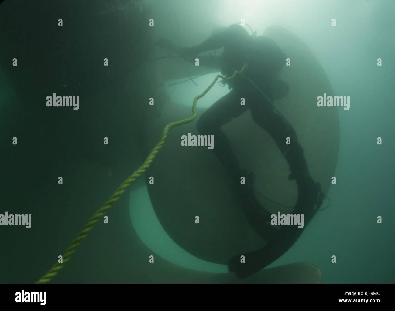 MINA SALMAN PIER, Bahrain (Feb  18, 2013) Navy Diver 1st