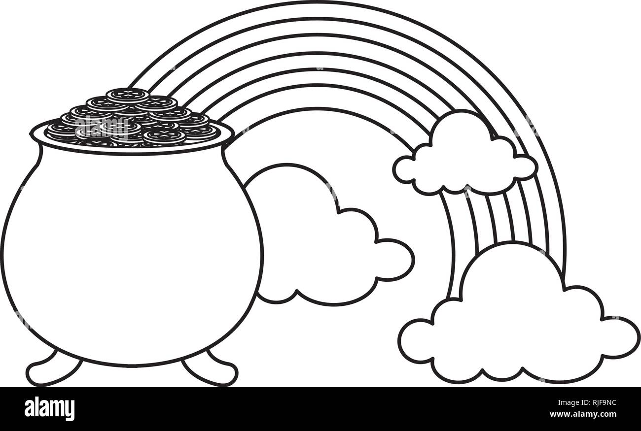 44f4206e717 treasure cauldron with rainbow Stock Vector Art & Illustration ...