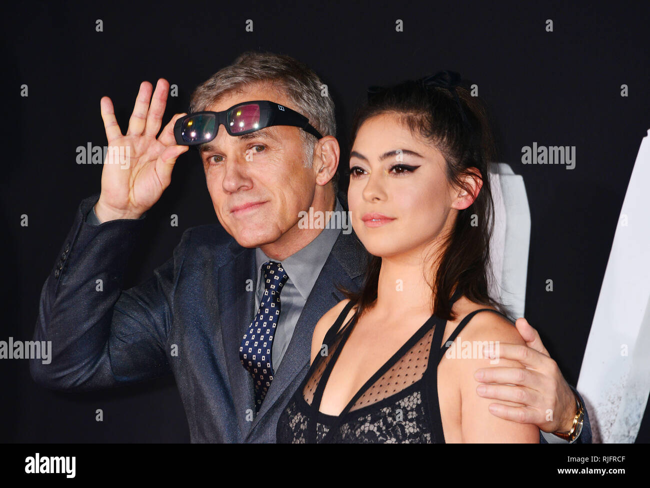 Los Angeles, USA. 05th Feb, 2019. a_ Christoph Waltz, Rosa Salazar 001 arrives at the Premiere Of 20th Century Fox's Alita Battle Angel at Westwood Regency Theater on February 05, 2019 in Los Angeles, California. Credit: Tsuni/USA/Alamy Live News - Stock Image