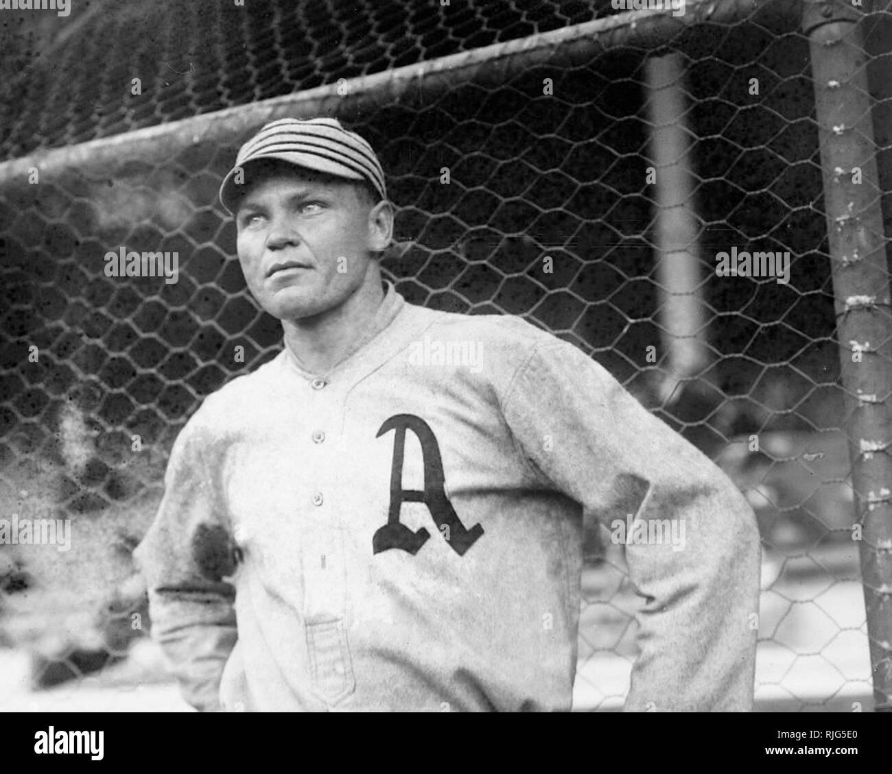 Amos Aaron Strunk,  Philadelphia Athletics, 1914.. Stock Photo