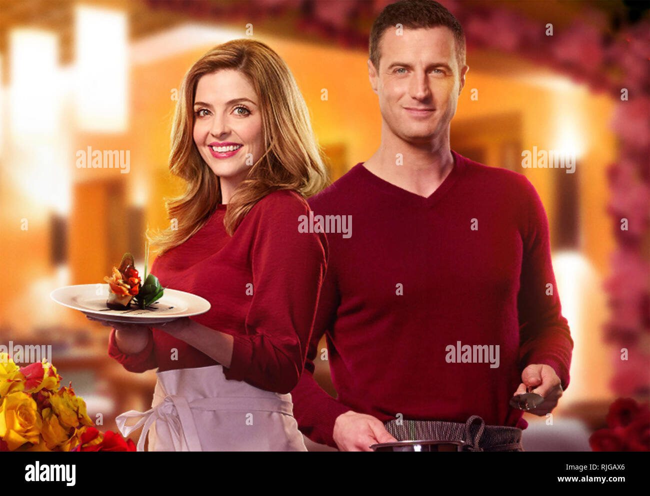 A DASH OF LOVE 2017 Hallmark Channel film with Jen Tilley and Brendan Penny - Stock Image