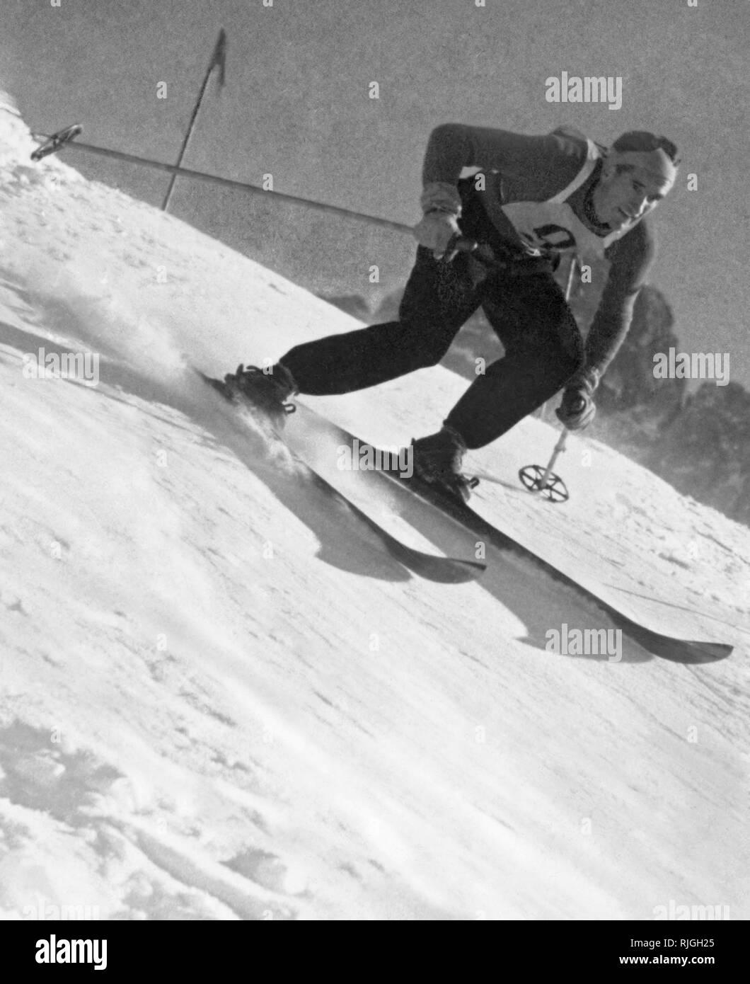 ski, 1940 - Stock Image