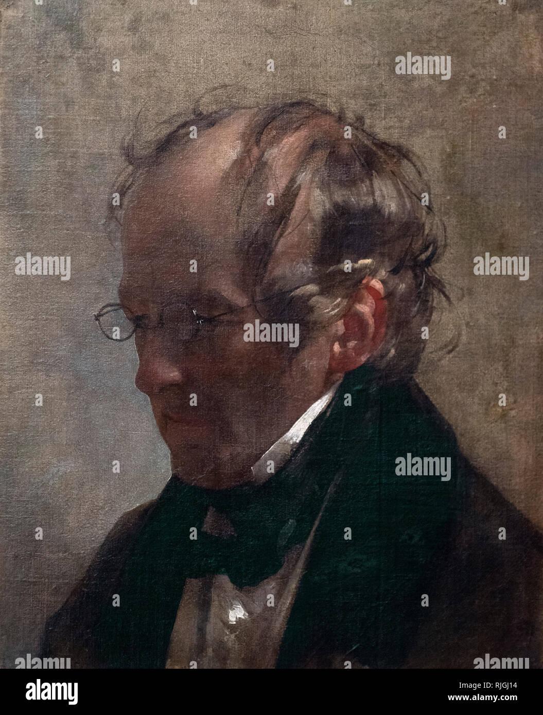 Friedrich von Amerling (1803-1887), Portrait of Carl Christian Vogel von Vogelstein (1788-1868), 1837. Alte Nationalgalerie, Berlin, Germany. - Stock Image