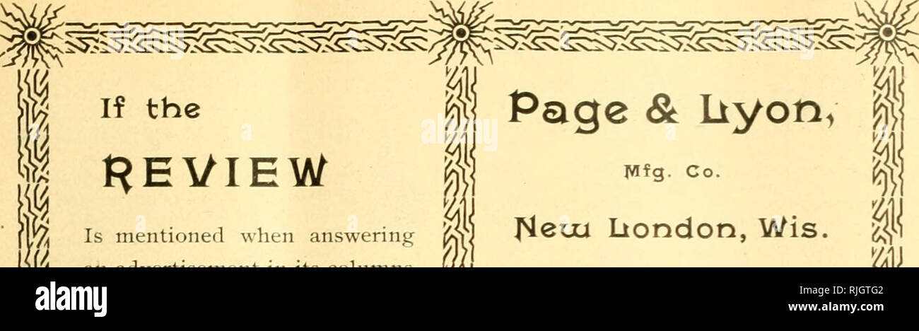 """. The Bee-keepers' review. Bee culture. Page & liyon, Is mentioned when answering an advertisement in its columns a favor is conferred upon both the publisher and the advertis- er. It helps the former by rais- ing his journal in the estima- tion of the advertiser, and it en- ables the latter to decide as to which advertising mediums are most profitable. If you would help the Review, be sure and say """" I saw your advertisement in the Review,"""" when writing to advertisers. The Usual Fall DISCOUNT Is now allowed on orders. If you want .shipping cases, crates, extractors, or anything e - Stock Image"""