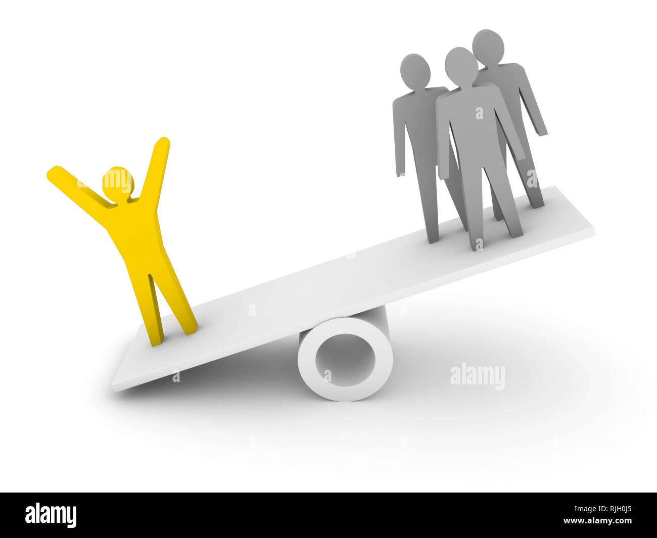 Professionalism, competence metaphor.  Concept 3D illustration. - Stock Image