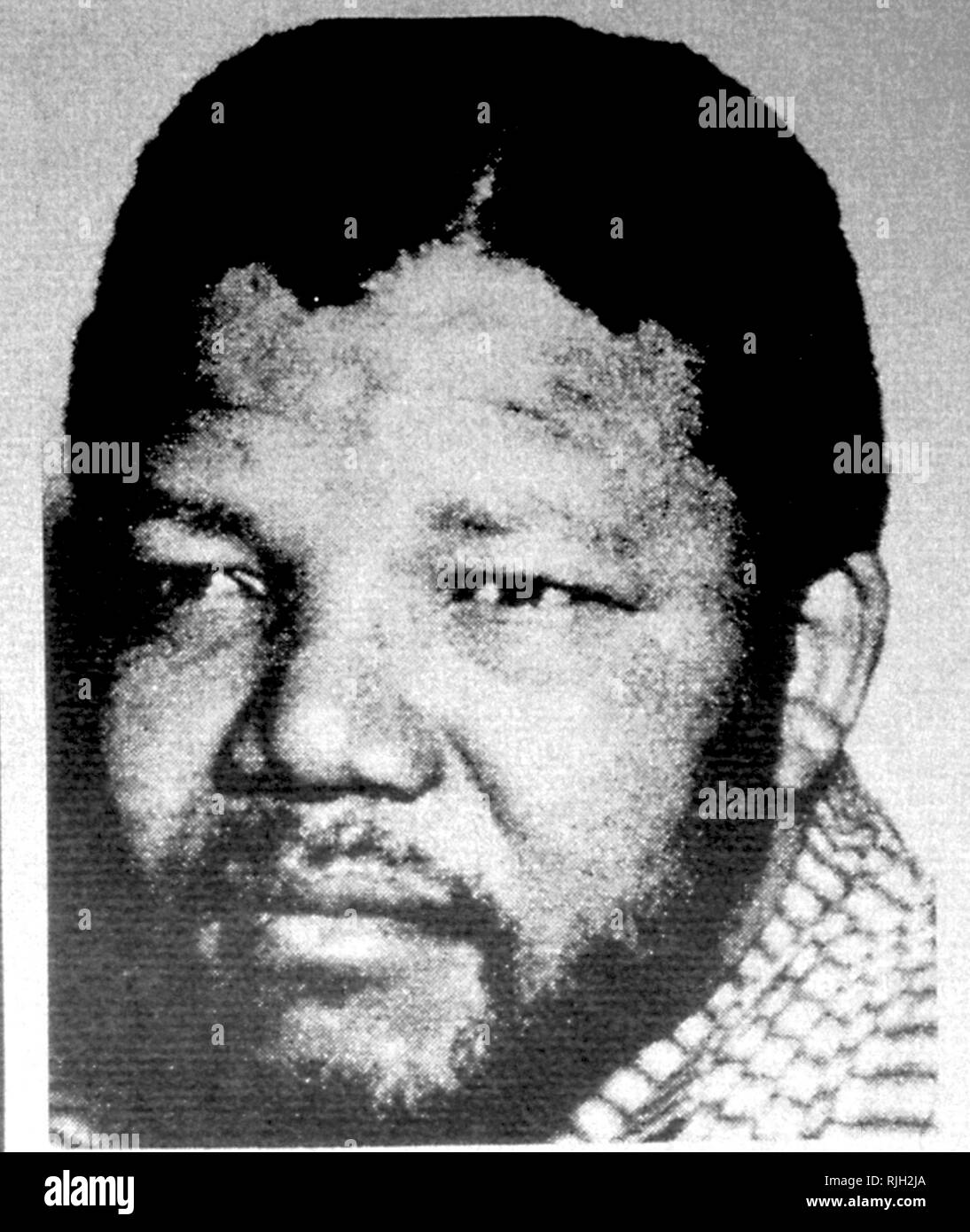 Nelson Mandela 1975. Mandela (1918 - 2013), was a South African anti-apartheid revolutionary, political leader, and philanthropist who served as President of South Africa from 1994 to 1999. - Stock Image