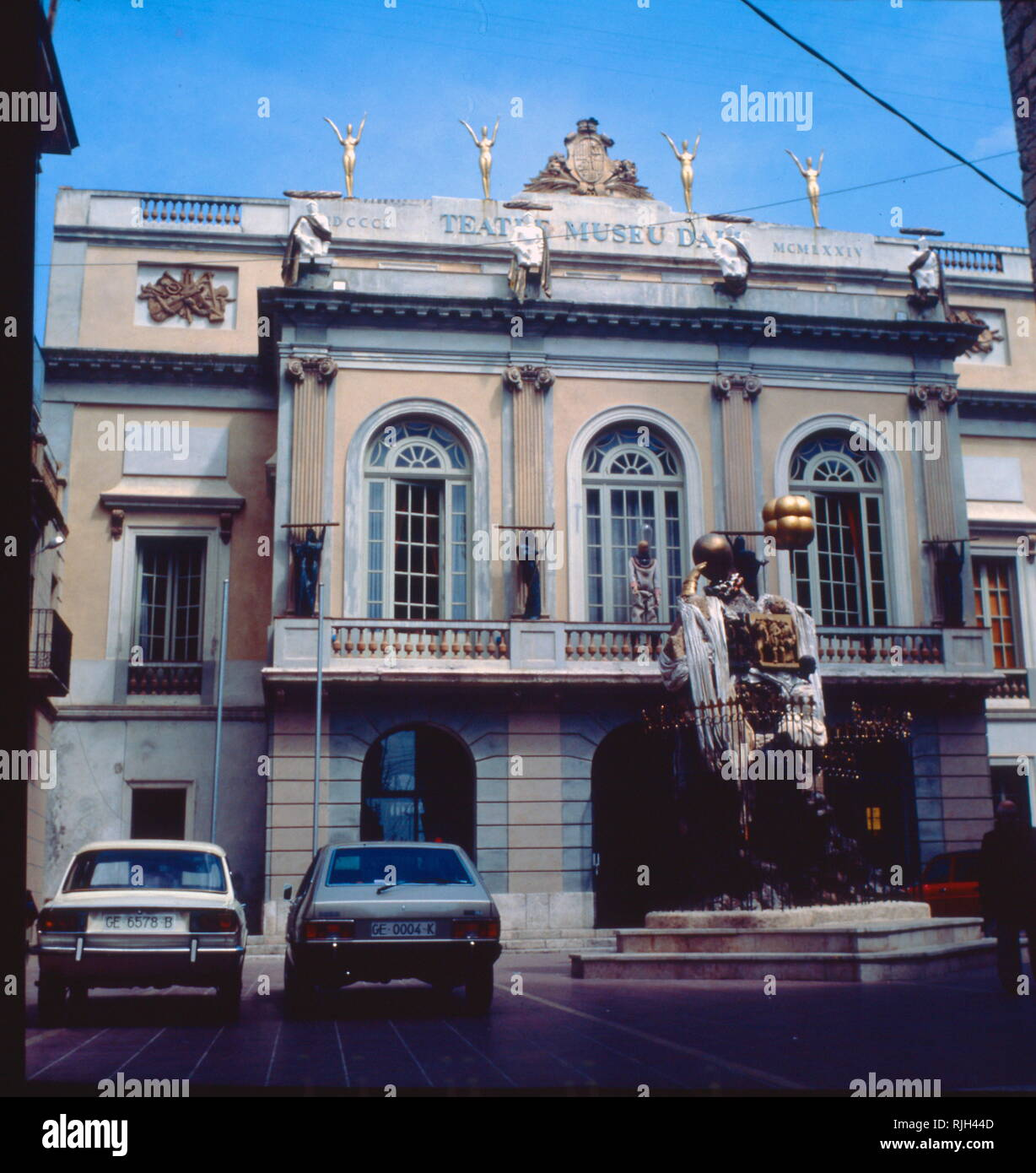 The Salvador Dali Theatre and Museum  in his home town of Figueres, in Catalonia, Spain. Salvador Dali (1904 - 1989), was a Spanish surrealist painter - Stock Image
