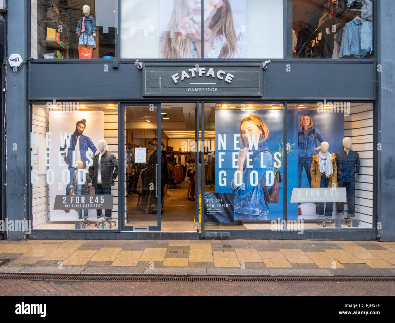 The Fat Face Clothes shop in Cambridge City Centre UK - Stock Image