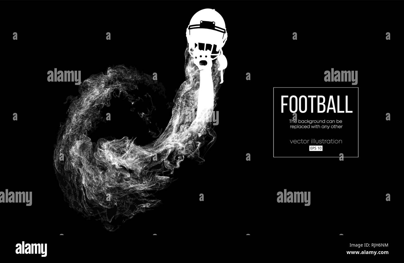 Abstract silhouette of a american football helmet - Stock Image