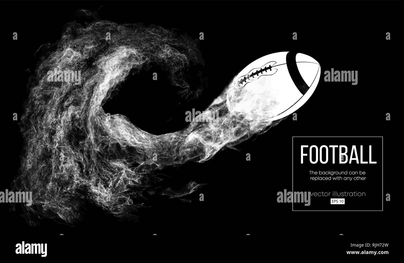 Abstract silhouette of a american football ball - Stock Image