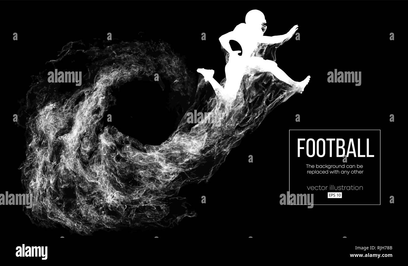 Abstract silhouette of a american football player - Stock Image