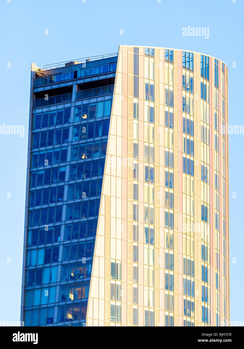 Stratford Halo residential tower block - East London, England - Stock Image