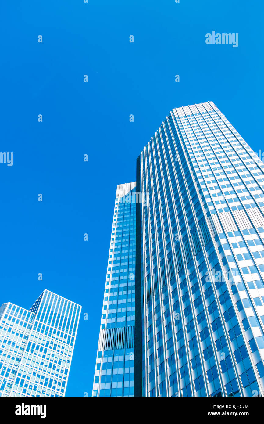 skyscrapers in central business district - Stock Image