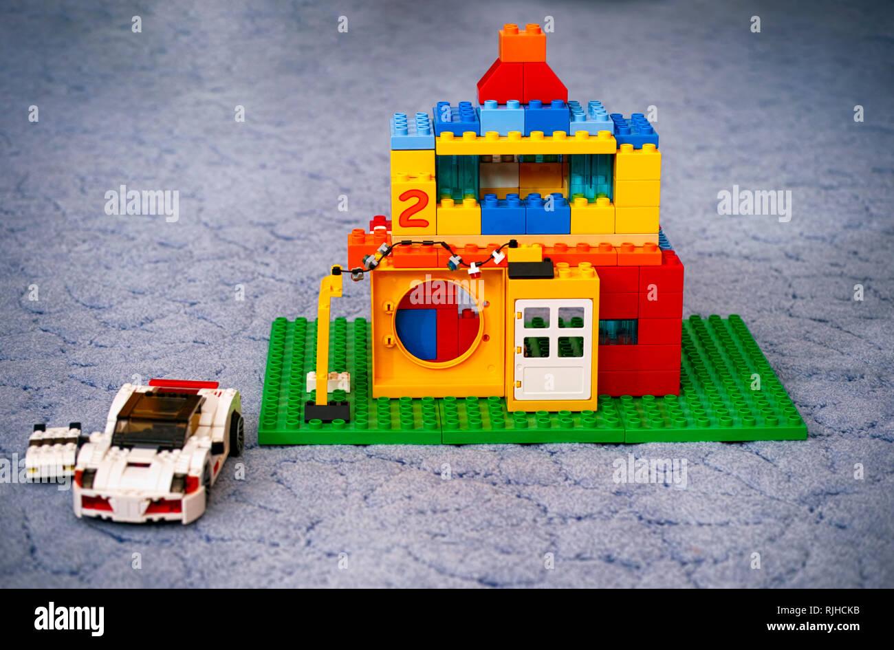 White Lego Duplo Toy Block Stock Photos White Lego Duplo Toy Block