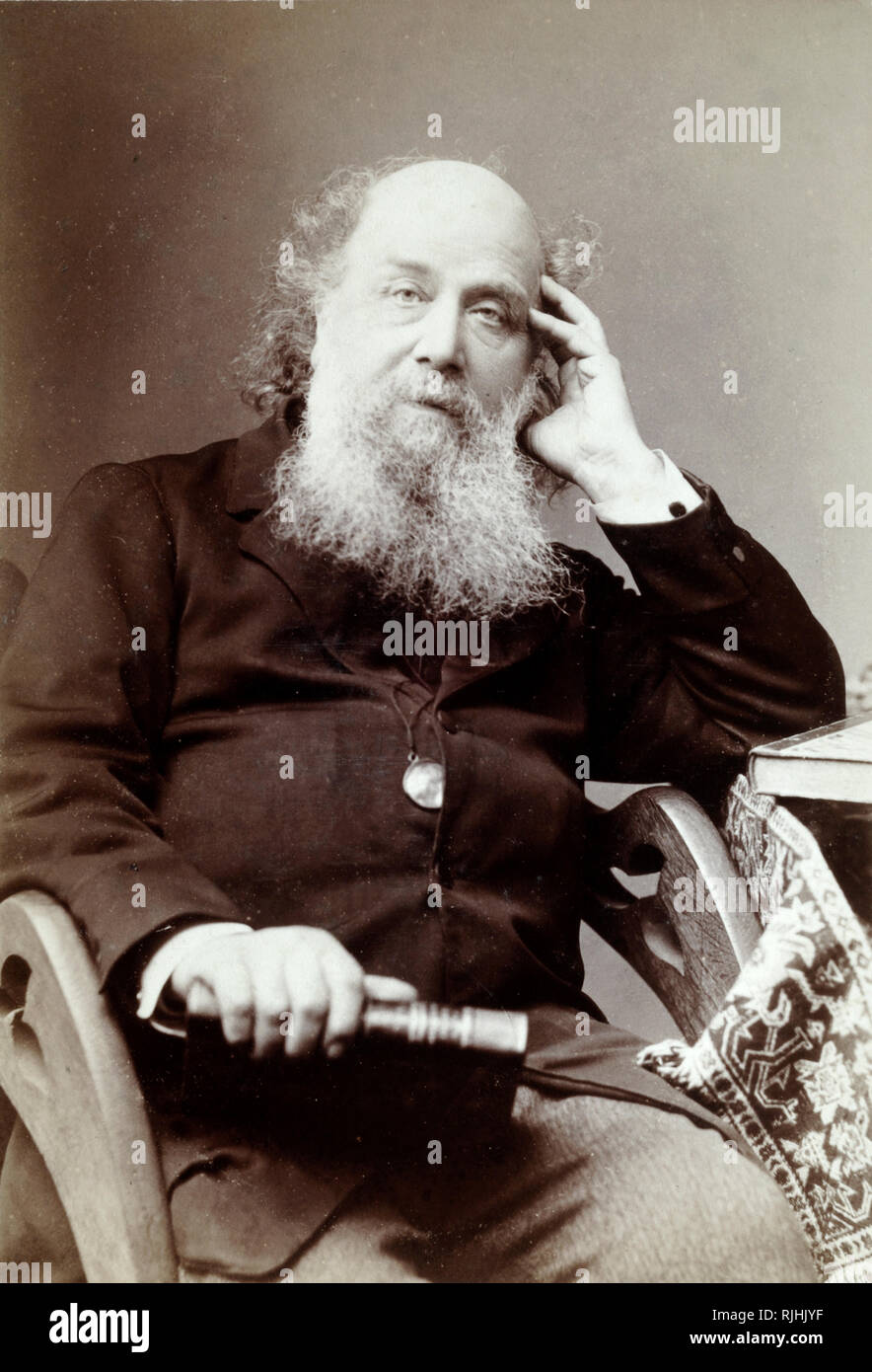 Portrait of James Joseph Sylvester (1814-1897) English Mathematician & Theoretician who contributed to the development of matrix theory, number theory, invariant theory, combinatorics and partition theory - Stock Image
