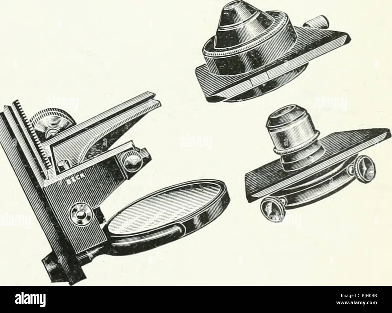 . Beck microscopes. Microscopes. No. 3515.. 41. Please note that these images are extracted from scanned page images that may have been digitally enhanced for readability - coloration and appearance of these illustrations may not perfectly resemble the original work.. Beck (R. & J. ) Ltd. London : Beck - Stock Image