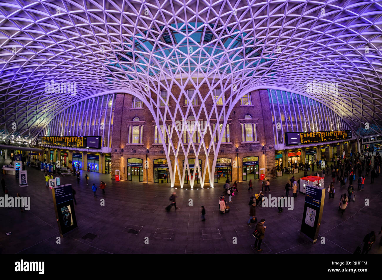 Kings Cross Railway Station, London, England - Stock Image