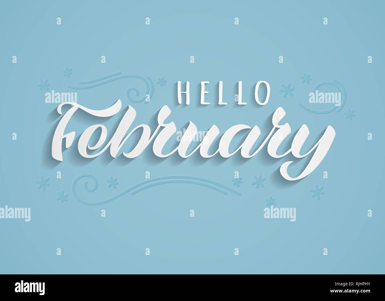 The Month Of February Drawing Stock Photos & The Month Of