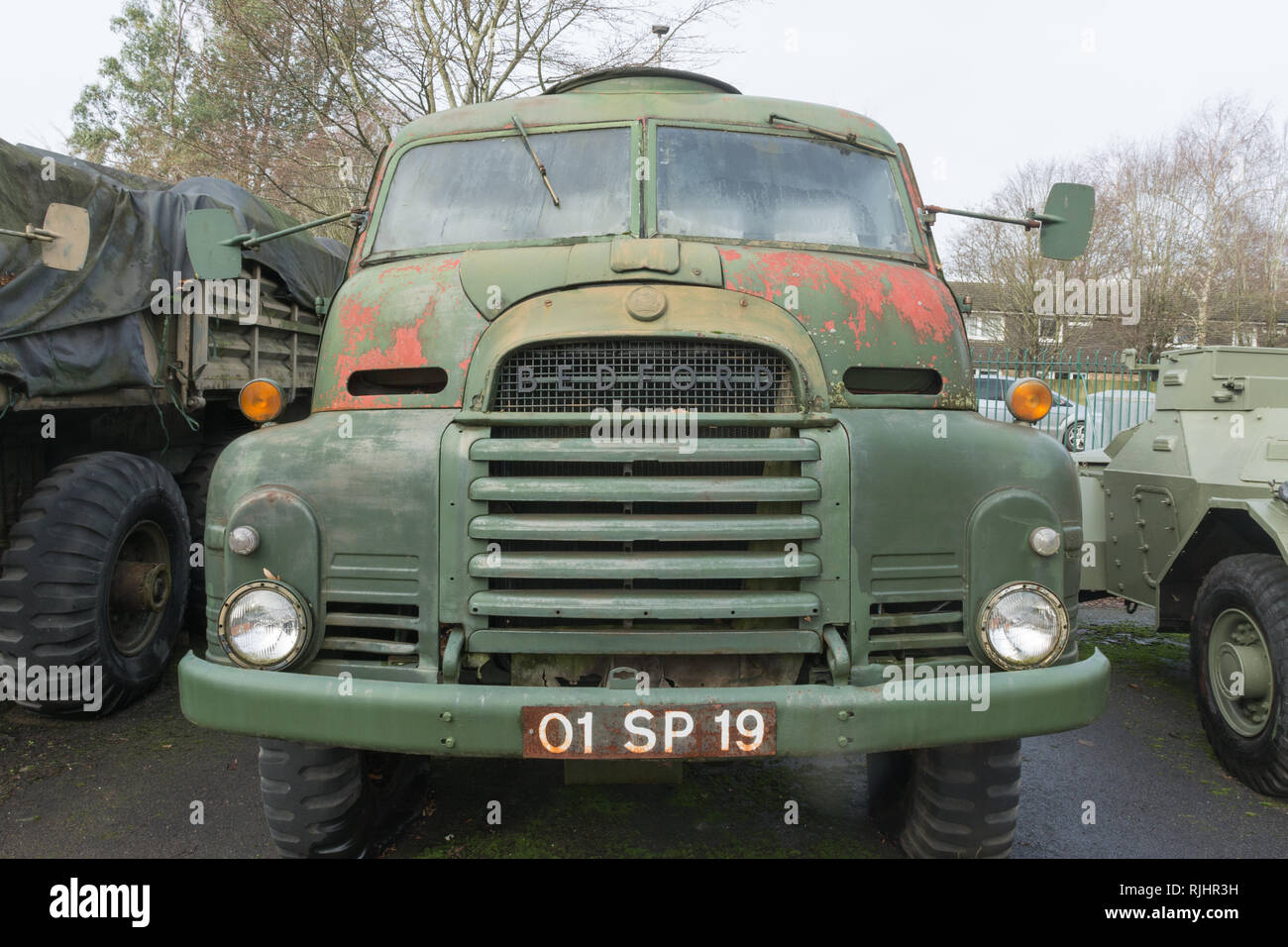 Bedford RL, 1963, a British military medium lorry or truck, at Aldershot Military Museum in Hampshire, UK - Stock Image