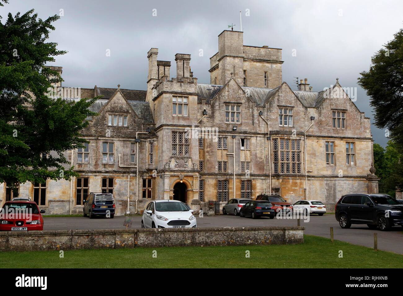 A view of Hatherop Castle School, at Hatherop near Cirencester, Gloucestershire. 20th June 2018 - Stock Image