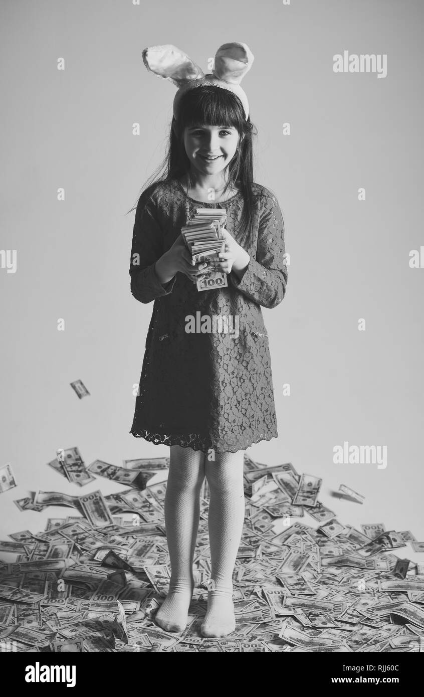 business success, childhood, happy easter. - Stock Image