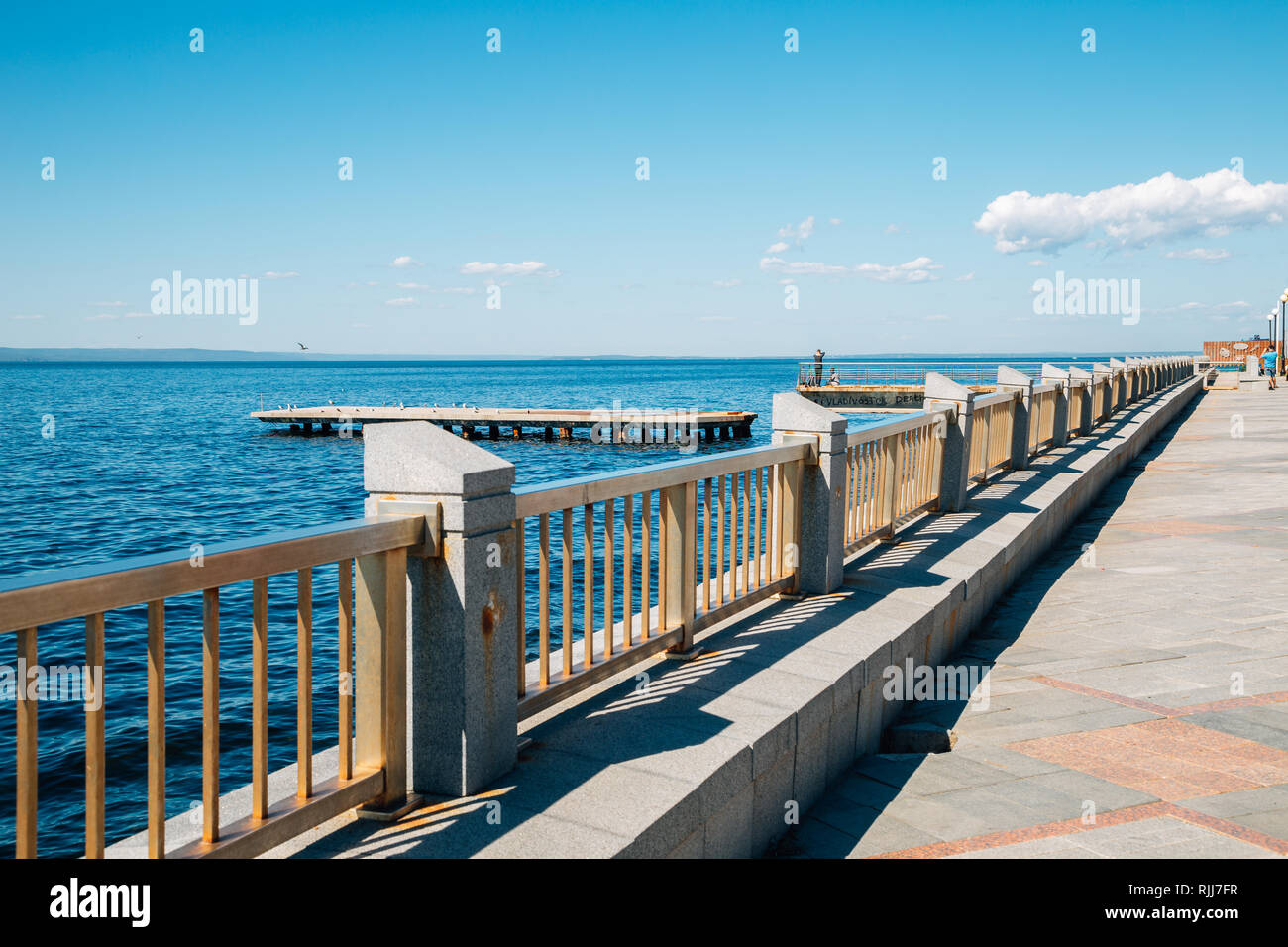 Seaside park in Vladivostok, Russia - Stock Image