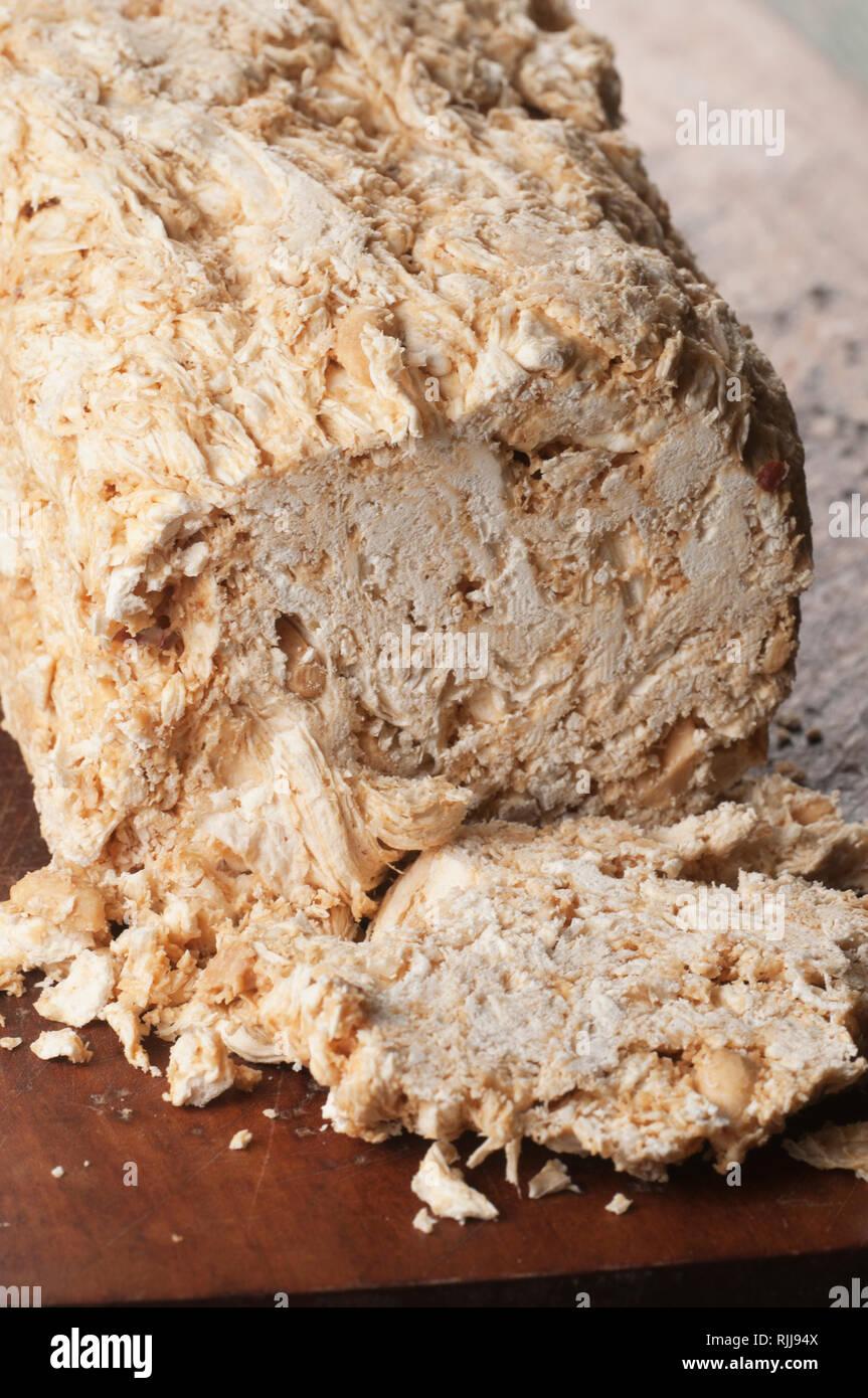 Sesame halva, close up shot, local focus - Stock Image
