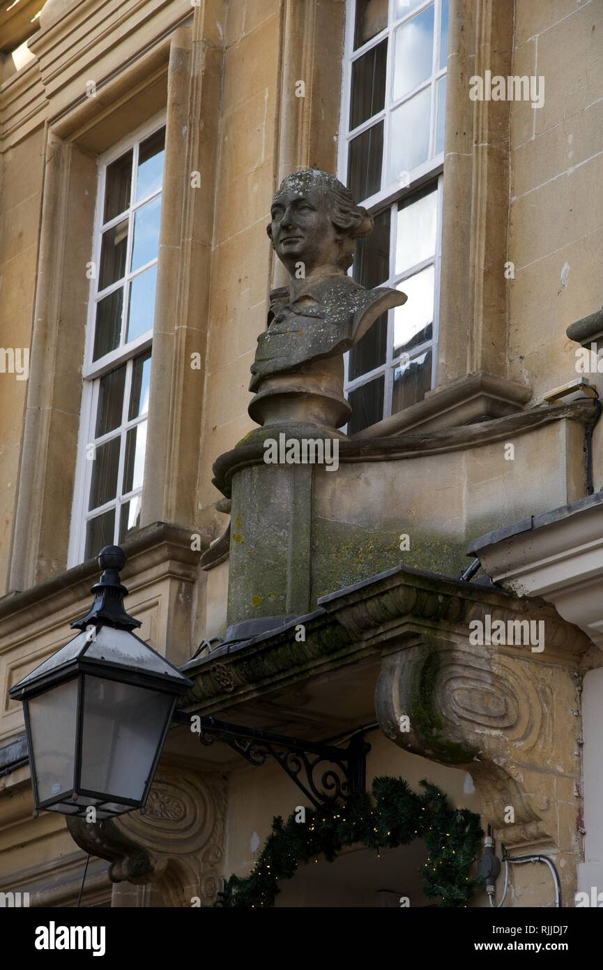 Bath, southwest England is known for its Georgian architecture and Roman baths. - Stock Image