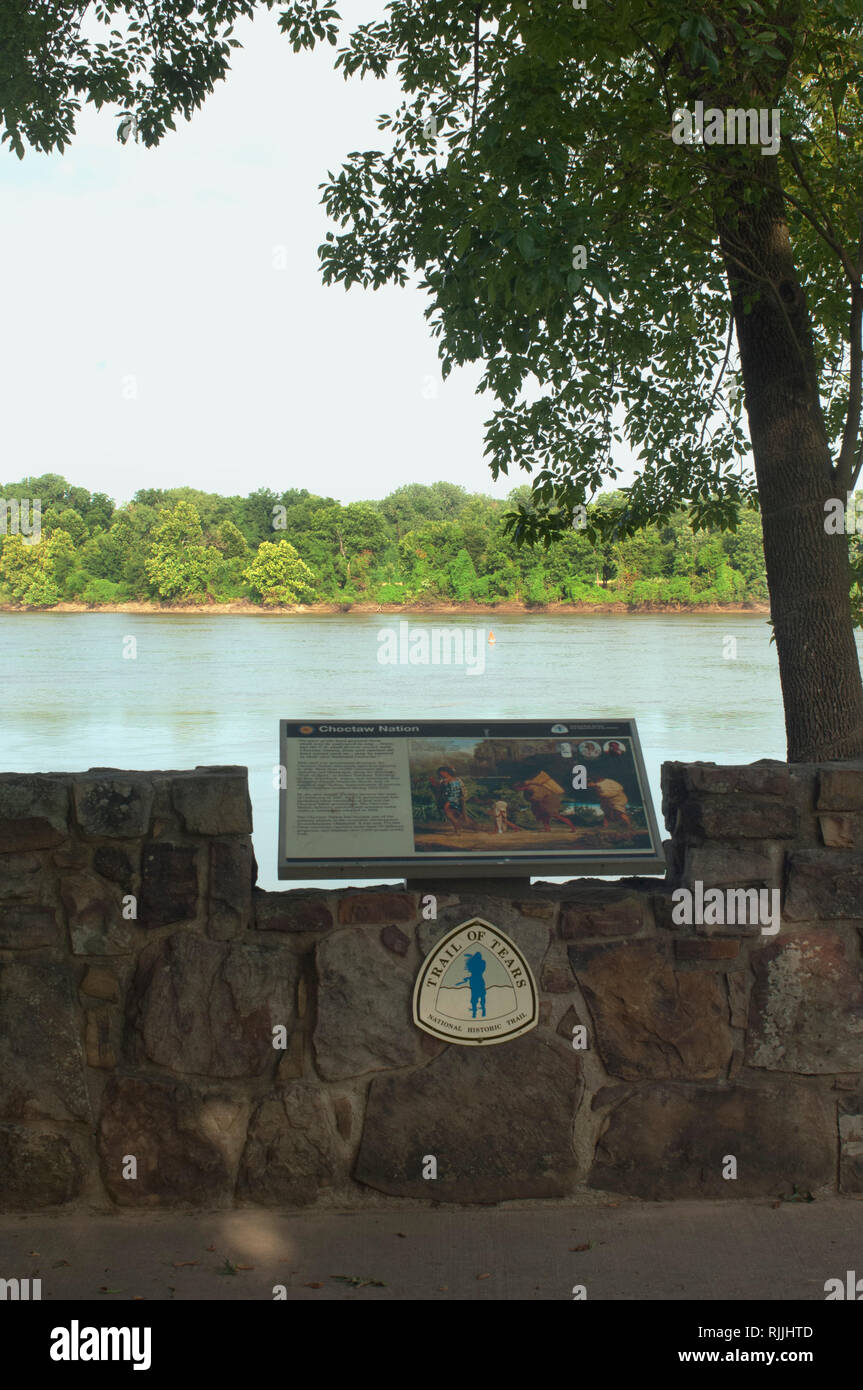 Arkansas River, original end of the Trail of Tears, Fort Smith National Historic Site, Arkansas. Digital photograph - Stock Image