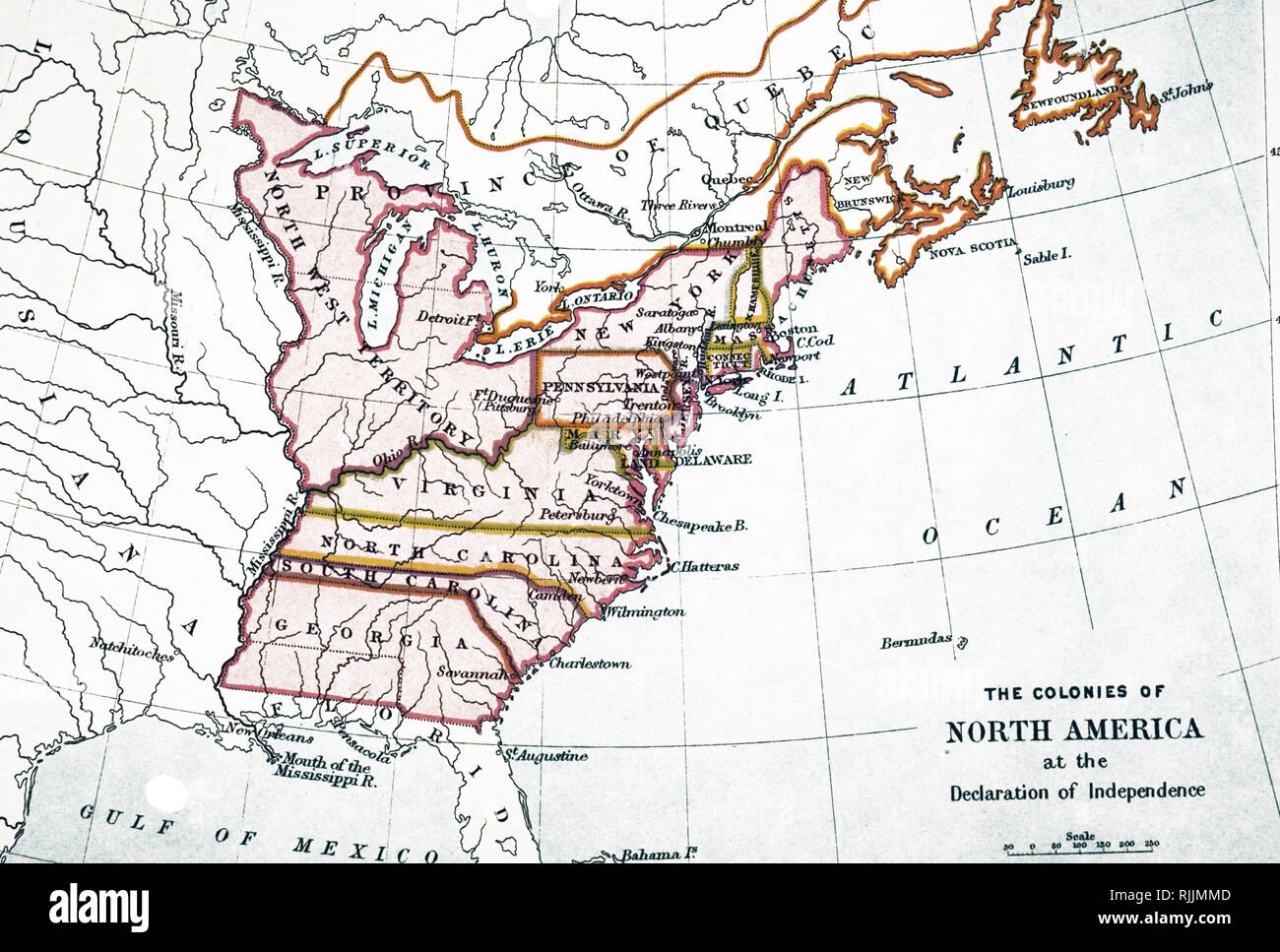 Usa Map 1776 Stock Photos Usa Map 1776 Stock Images Alamy