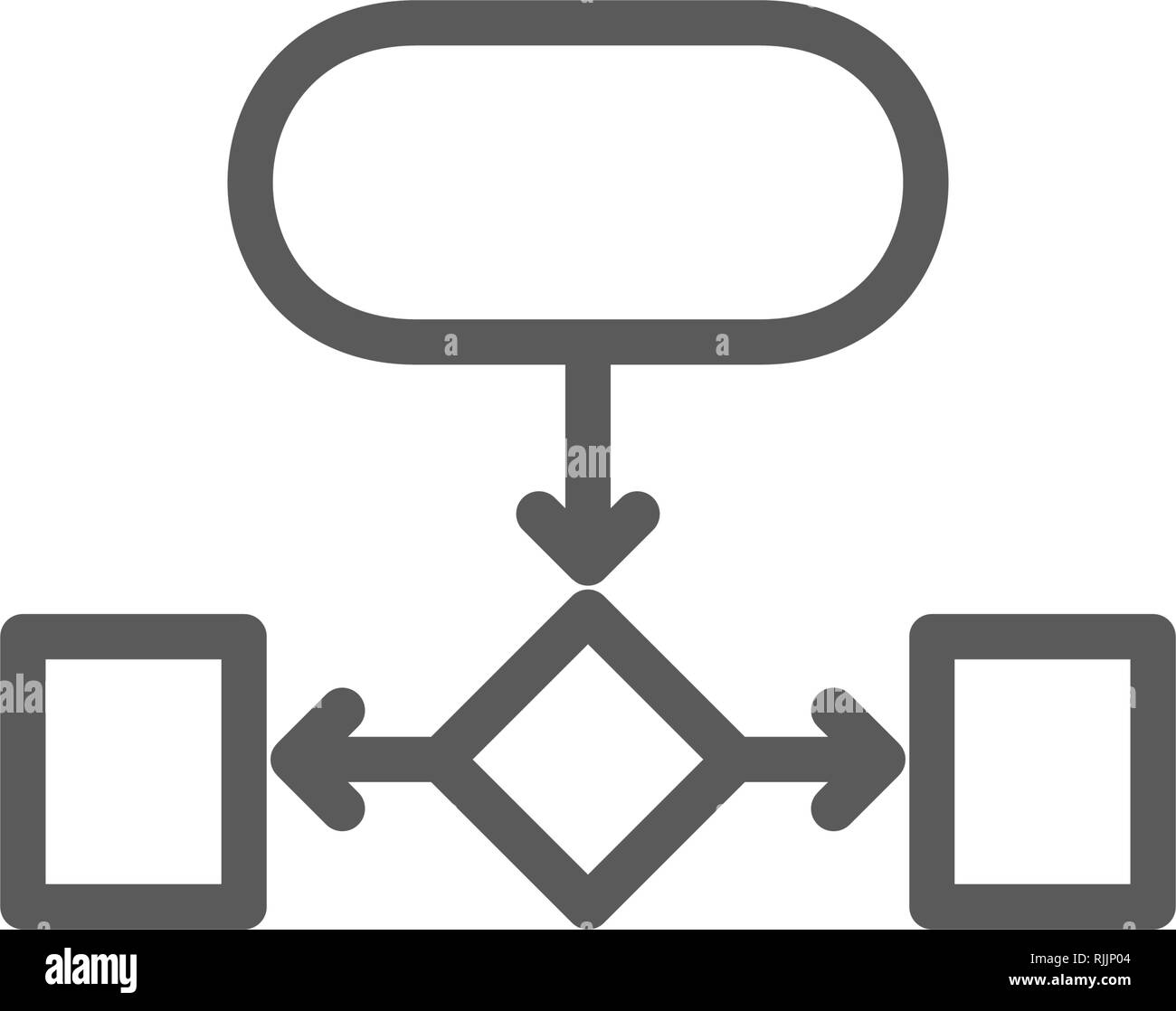 Hierarchical structure, auxiliary chart line icon. - Stock Image
