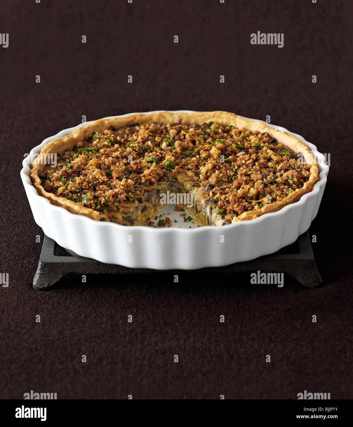 Savory pie - Stock Image