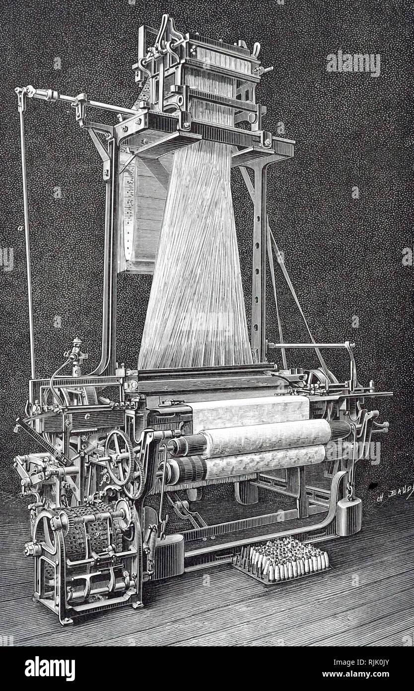 Jacquard Weaving Machine Stock Photos & Jacquard Weaving
