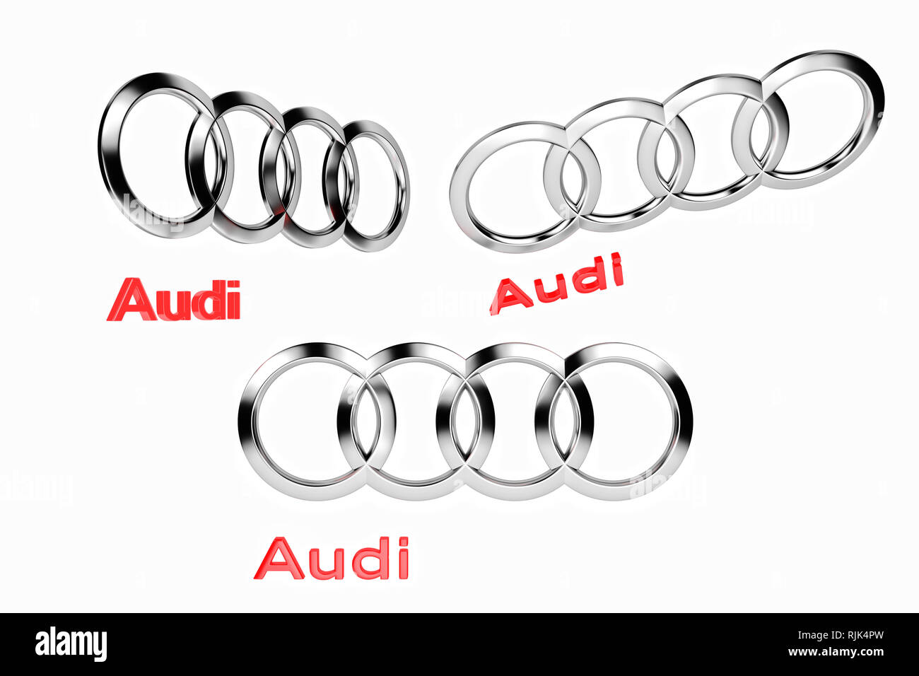 Audi Logo Cut Out Stock Images Pictures Alamy