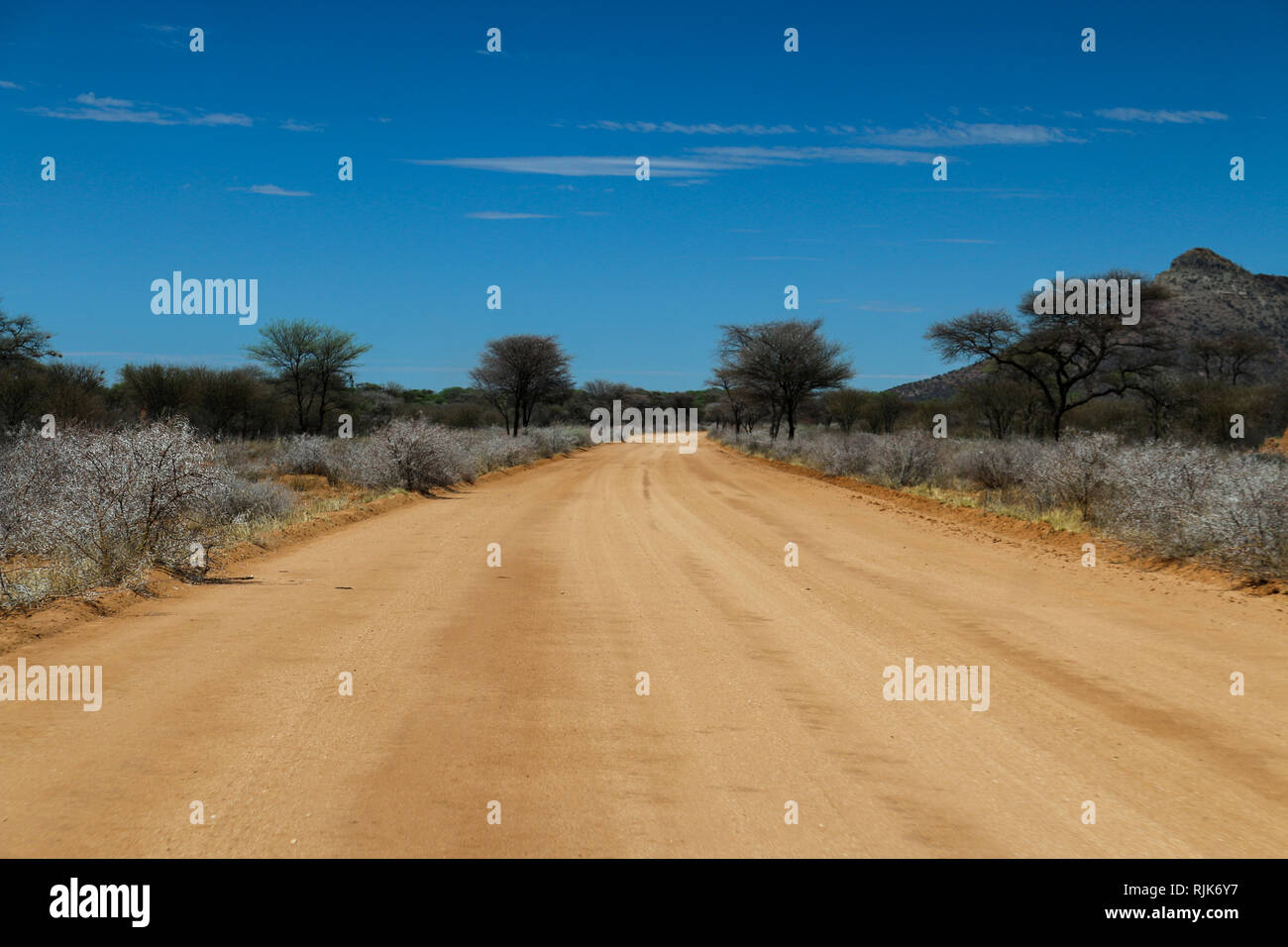 Highway in Namibia Stock Photo