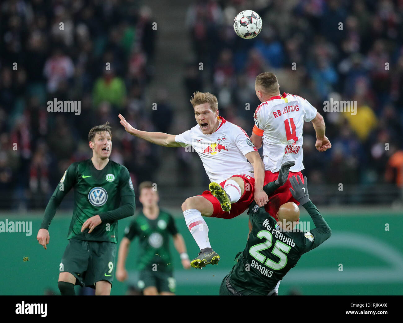 Leipzig, Germany. 06th Feb, 2019. Soccer: DFB Cup, Round of