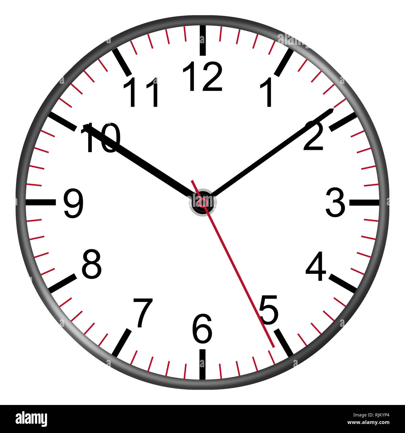 A Clock Face With Numbers Illustration Second Minute Hour
