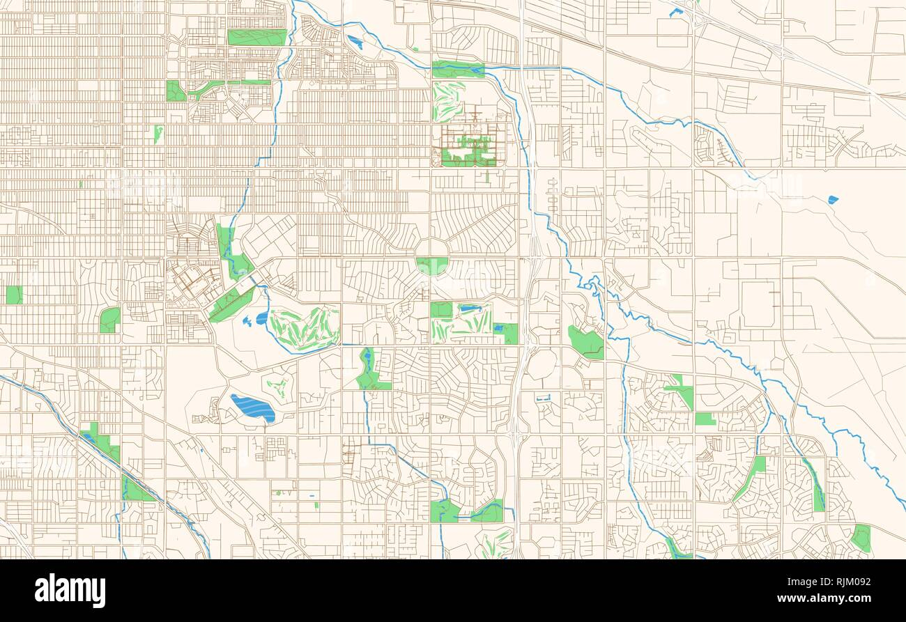 Aurora Colorado printable map excerpt. This vector streetmap ...
