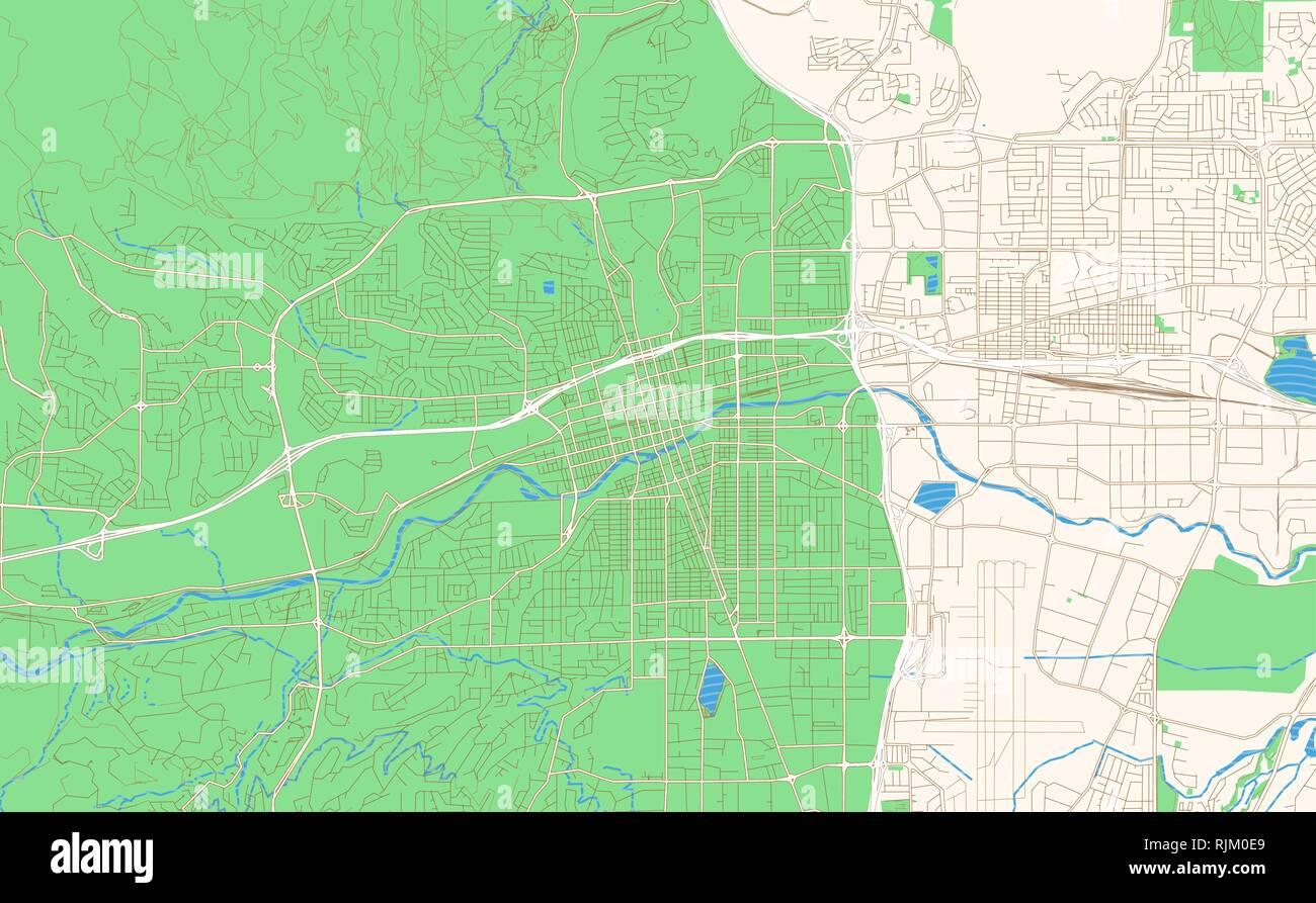 reno nevada street map Reno Nevada Printable Map Excerpt This Vector Streetmap Of reno nevada street map