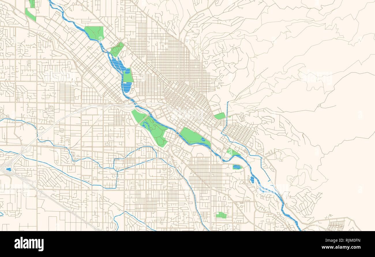 map of downtown boise idaho Boise Idaho Printable Map Excerpt This Vector Streetmap Of map of downtown boise idaho